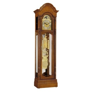 Ridgeway Primrose Traditional, Elegant, Antique Design, Grandfather Style Chiming Floor Clock with Pendulum and Movements