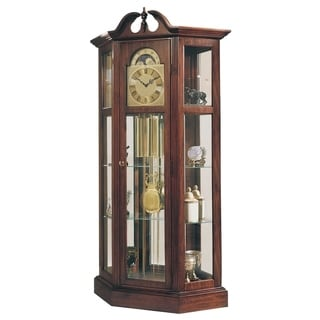 Ridgeway Richardson Traditional, Antique, Grandfather Style Chiming Floor Clock, Pendulum and Movement, & Side Display Cases