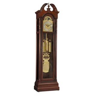 Ridgeway Meadowbrook Traditional, Elegant, Antique Design, Grandfather Style Chiming Floor Clock with Pendulum and Movements