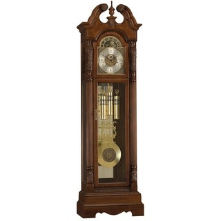 Ridgeway Rochdale Traditional, Elegant, Antique Design, Grandfather Style Chiming Floor Clock with Pendulum and Movements