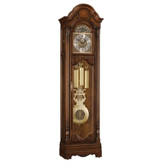 Ridgeway San Antonio Traditional, Elegant, Antique Design, Grandfather Style Chiming Floor Clock with Pendulum and Movements