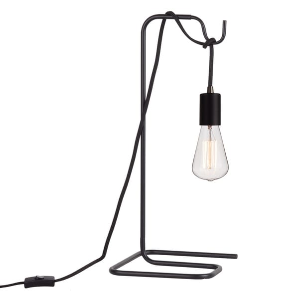 """Designer Series 18"""" Black Table Lamp with Vintage Bulb. Opens flyout."""
