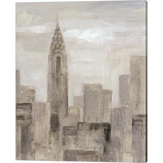 Silvia Vassileva 'City Blocks I Greige' Canvas Art