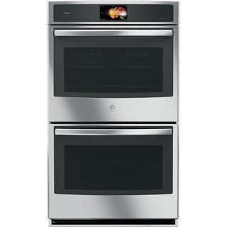 GE Profile Series Black Stainless Steel 30-inch Built-in Double Convection Wall Oven