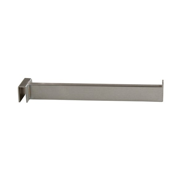 """Econoco - RH/12-SC - 12"""" Straight Rectangular Satin Chrome Tubing Faceout for Rectangular Hangrail Sold in Pack of 24"""