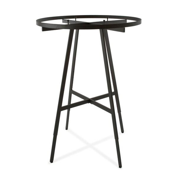 Econoco Matte Black Round 42-inch diameter Clothing Rack and Rectangular Tubing Hangrail