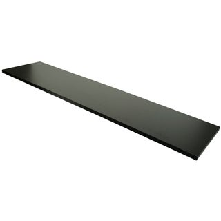 "Econoco Melamine Shelf, 12"" x 48"", Black (Pack of 4)"