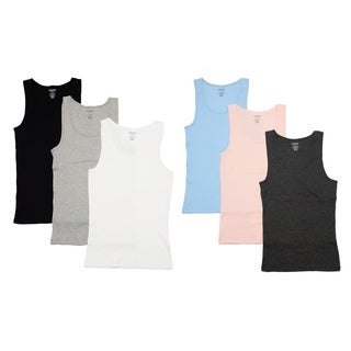 Cherokee Ladies 3 Pack Cotton Ribbed Tank Tops
