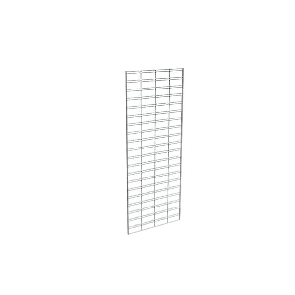 Econoco Metal Slat Grid for Any Retail Display or Home Storage, 2' Width x 5' Height, 3 Grids Per Carton (CHROME)