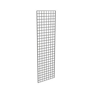 Grid Panel for Retail Display - Perfect Metal Grid for Any Retail Display, 2' Width x 7' Height, 3 Grids Per Carton (Black)