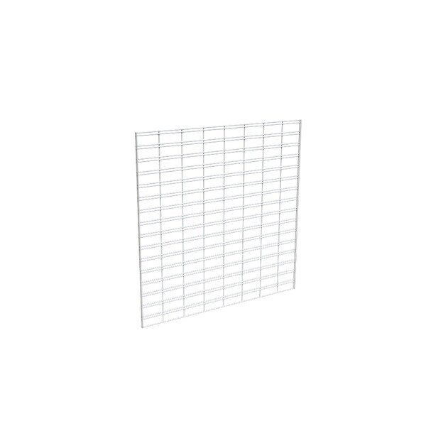 Econoco White Metal 4' x 4' Slat Grid for Any Retail Display or Home Storage (Carton of 3)