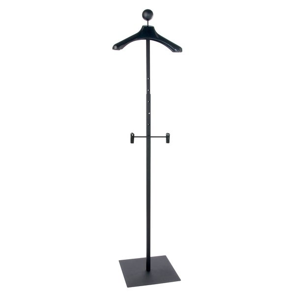 Econoco - MAUF1/MAB - Matte Men's Black Floor Standing Costumer with Display Hanger Sold in Pack of 1