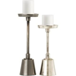 Renwil Kopari Aluminum Lead and Nickel Set of 2 Candle Holders