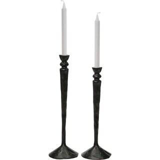 Renwil Bollington Aluminum Black Set of 2 Candle Holders