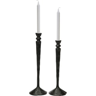 Renwil Bollington Aluminum Black Set of 2 Candle Holders
