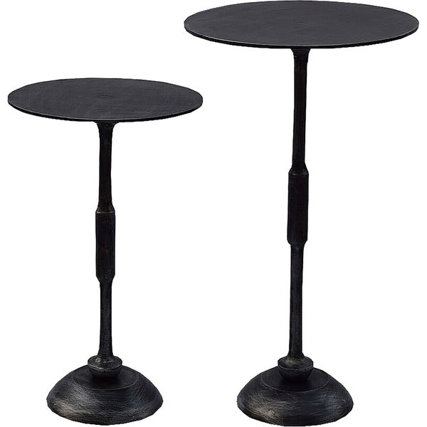 Renwil Bestin Aluminum Raw Antique Charcoal Set of 2 Tables