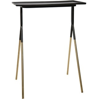 Strick & Bolton Blackwell Iron Black/ Gold Accent Table