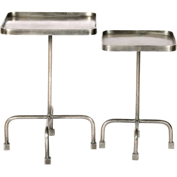 Strick & Bolton Marinus Forged Grey Iron Accent Tables (Set of 2)