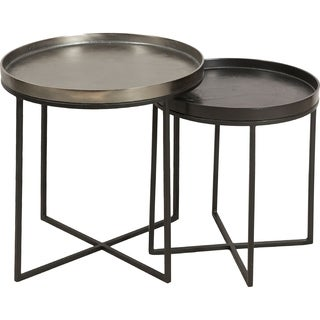 Renwil Conerick Iron/Aluminum Bronze/Black Nesting Accent Tables (Set Of 2)
