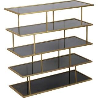 Renwil Capucine Brass-finished Iron/Amber Glass Shelf
