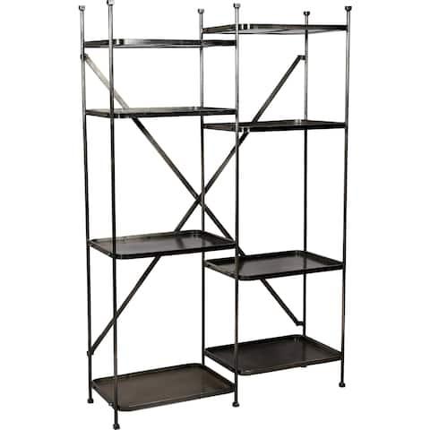 Renwil Millie 8-Shelf Forged Iron Grey Shelving Unit