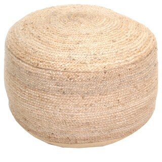 Renwil Clendon Hemp Braided Natural Traditional Pouf