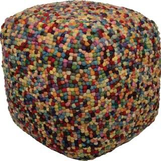 Renwil Nancy Multicolor Wool/Felt Pouf