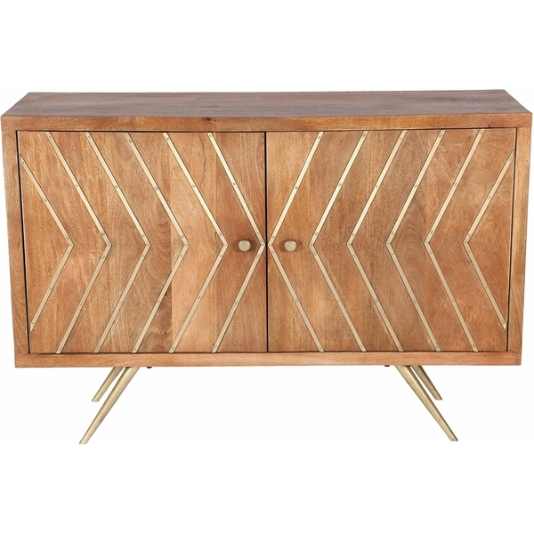 Renwil Bresmo Natural Mango Wood And Antique Br Iron Cabinet Free Shipping Today 22897286