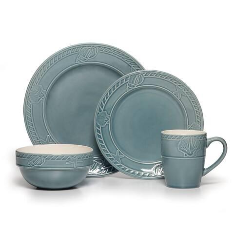 Pfaltzgraff Everyday Antigua Blue 16 Pc Dinnerware Set (Service for 4)