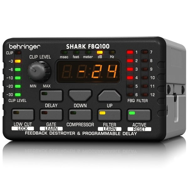 Behringer FBQ100 Shark Automatic Feedback Destroyer with Integrated Microphon...