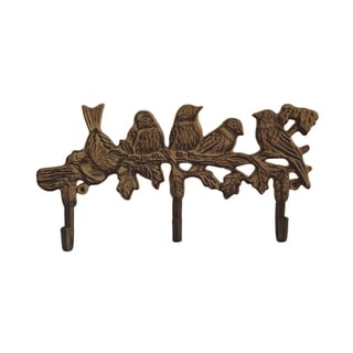 Decorative Tree Branch and Birds Hook-Cast Iron Shabby Chic Rustic Wall Mount Hooks by Lavish Home