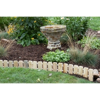Link to Garden Edging - Pressure-Treated Pine No Dig Roll Up Flower Bed Edges Similar Items in Yard Care