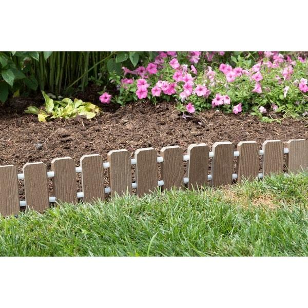 Garden Edging Evergrain Composite No Dig Roll Up Flower Bed Edges