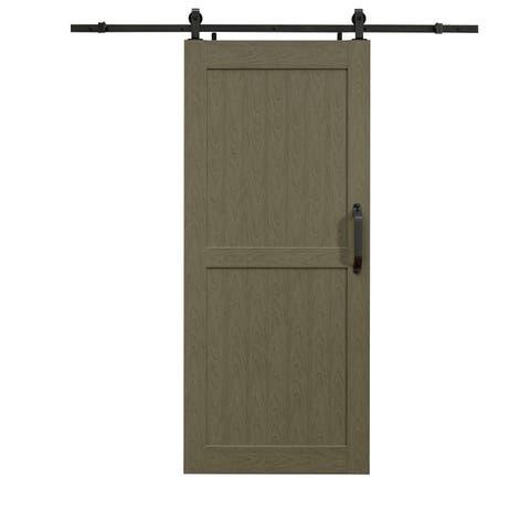 Montana Heather Grey Barn Door Room Divider 36X84