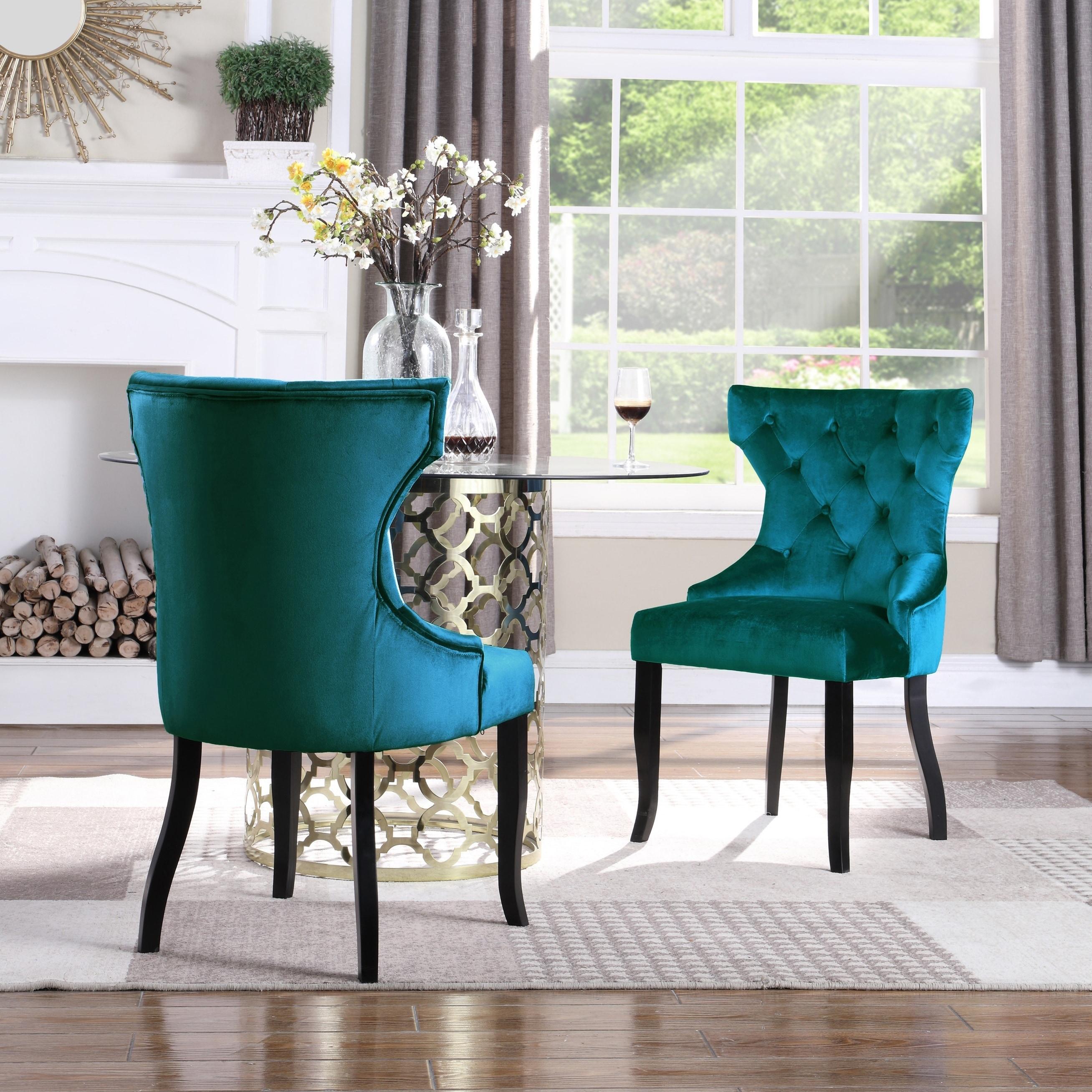 Chic Home Pixie Wingback Velvet Dining Chair, Set of 2 ...