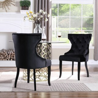 Chic Home Pixie Wingback Velvet Dining Chair, Set of 2