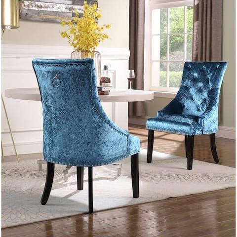 Chic Home Raziela Velvet Upholstered Dining Chair, Set of 2