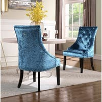 Chic Home Raziela Velvet Upholstered Dining Chair, Set of 2