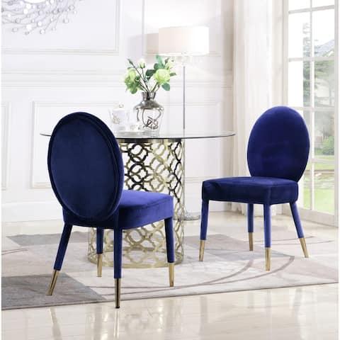 Chic Home Jerett Velvet Dining Chair Oval Back, Set of 2
