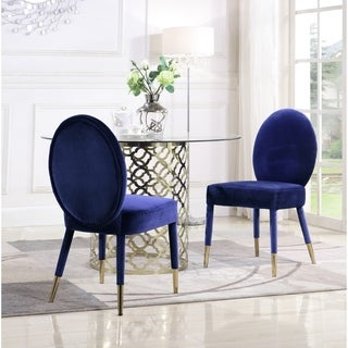 Link to Chic Home Jerett Velvet Dining Chair Oval Back, Set of 2 Similar Items in Dining Room & Bar Furniture