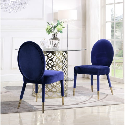 Chic Home Jerett Velvet Dining Chair Oval Back, Set of 2 - N/A