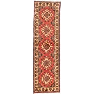 ECARPETGALLERY Hand-knotted Finest Kargahi Dark Copper Wool Rug - 2'10 x 9'8