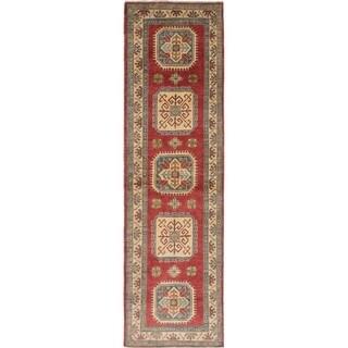 ECARPETGALLERY Hand-knotted Finest Gazni Cream, Dark Copper Wool Rug - 2'9 x 9'11