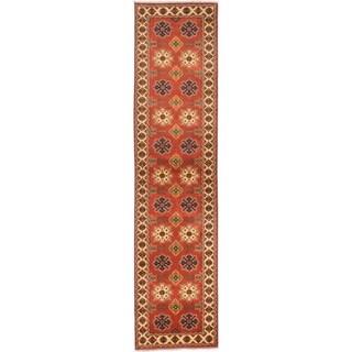 ECARPETGALLERY Hand-knotted Finest Kargahi Dark Copper Wool Rug - 3'0 x 12'5