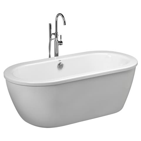 American Standard Cadet Freestanding Tub Kit, Less Tub Filler 2764.014M204.011 Arctic