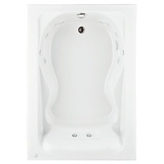 American Standard Cadet 60 Inch by 42 Inch EverClean Whirlpool 2772.018W.020 White