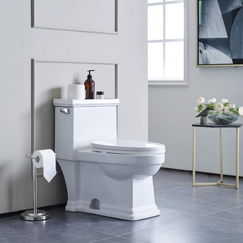 Swiss Madison Voltaire® One Piece Elongated Toilet Side Flush 1.28 gpf - N/A