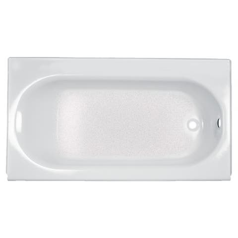 American Standard Princeton 60 Inch by 34 Inch Integral Apron Bathtub with Ledge and Overflow 2394.202ICH.020 White - Off White