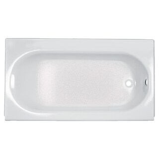 American Standard Princeton 60 Inch by 34 Inch Integral Apron Bathtub with Ledge and Overflow 2394.202ICH.020 White