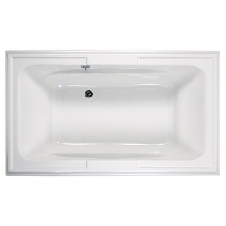 American Standard Town Square 72 Inch by 42 Inch EcoSilent Whirlpool 2742.048WC.020 White